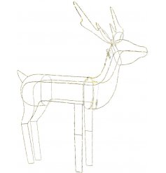 Bring a Luxe Living inspired touch to any home decor or Christmas display with this chic simplistic standing reindeer
