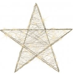Bring a sleek Winter Luxe touch to any home decor this Christmas season with this stylishly chic metal LED star