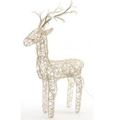 Bring a Winter Wonderland inspired touch to any home decor or Christmas display with this chic standing reindeer decorat
