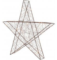 Bring a Luxe Living inspired touch to any home decor or Christmas display with this chic standing Star decoration