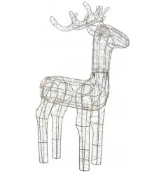 Bring a Luxe Living inspired touch to any home decor or Christmas display with this chic standing reindeer decoration