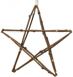 Bring a touch of the woodlands to any home interior or display with this illuminated LED twig star