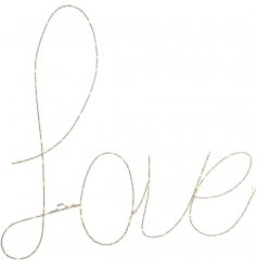 A beautifully illuminated script Love sign, a perfect home accessory for any theme or season