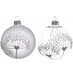 A beautiful assortment of glass baubles, finished with a Glittered Glam inspired look