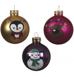 Bring this fun assortment of festive friend themed baubles to your Christmas tree decor for an added colourful splash