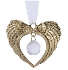 Bring a Golden Luxe vibe to your Christmas Tree decor this season with this beautiful pair of hanging Angel wings