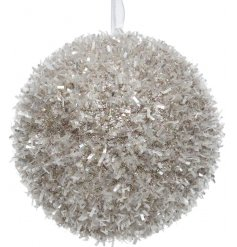 Bring home a Winter Luxe touch with this icy inspired foam bauble