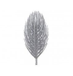 Create luxurious displays this Christmas with these glam glittery silver pine spray