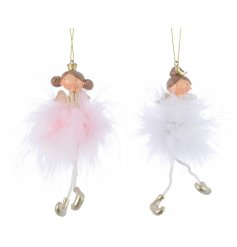 Add a fun and fluffy touch to any tree theme this Christmas season with this sweet assortment of hanging princesses