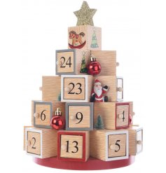 Count down the days until Christmas with this fun themed wooden block Advent Calendar