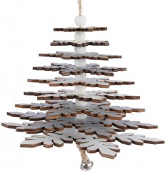 Bring a Nordic touch to any tree decor or home display with this grey toned hanging decoration