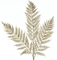 Bring a Golden Luxe touch to any vase or tree decor this Christmas season with this Fern Spray decoration