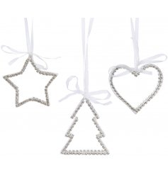 these Hollywood Glamour inspired decorations will add a glitzy touch to any tree