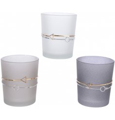 Bring a charming Pure and Warm edge to any home decor with this assortment of frosted finished glass tlight holders