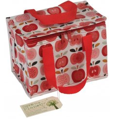 A Vintage Print Apple Lunch Bag
