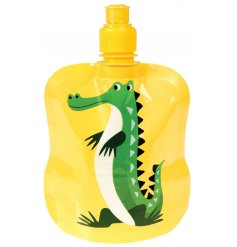 A Harry The Crocodile Folding Water Bottle