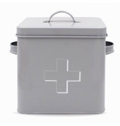 A Grey Kitchen Collection First Aid Metal Tin
