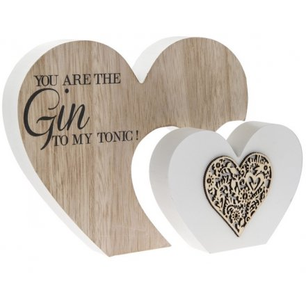 Bring home a sentimental and almost sweet feel with this natural toned smooth wooden heart block