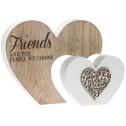 'Family we choose' Natural Toned Heart Block