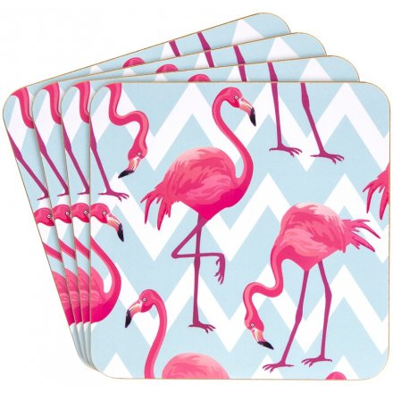 Flamingo Set of 4 Coasters