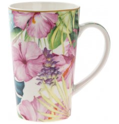 A latte mug from the Tropical Paradise Collection