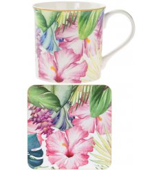 A Tropical Paradise Mug & Coaster Set