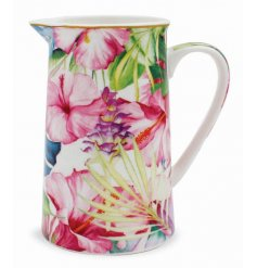 A medium sized tropical paradise collection jug