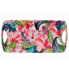A medium size Tropical Paradise print Tray