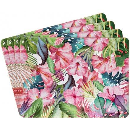 Tropical Paradise Placemats, Set Of 4
