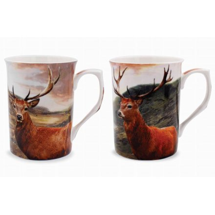 Set Of 2 Tall Stag Mugs