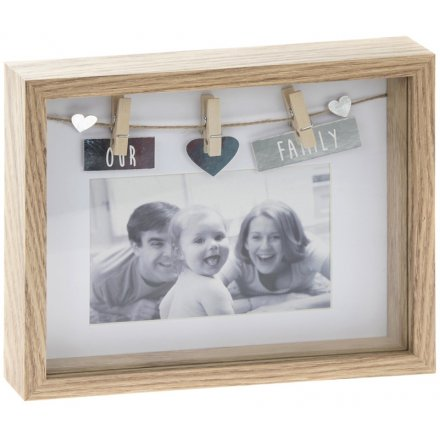 Our Family Box Peg Frame