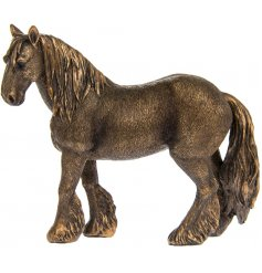 Set in a distressed bronze tone, this beautiful standing horse will look perfect in any vintage themed home