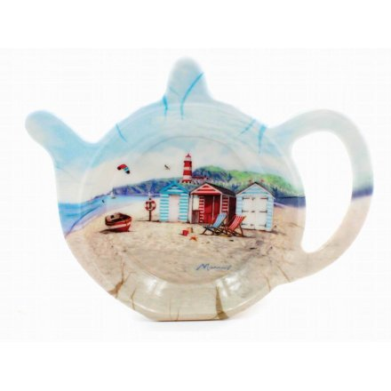 Ocean Breeze Illustrated Teabag Tidy