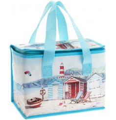 Always keep the beach close to you with this beautifully illustrated Coastal Charm inspired lunch bag