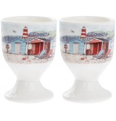 Always keep the beach close to you with this beautifully illustrated Coastal Charm inspired kitchen range