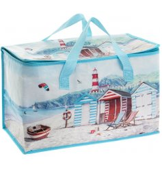 Always keep the beach close to you with this beautifully illustrated Coastal Charm inspired cooler bag