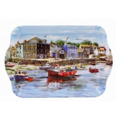 Bring home the beautiful view of the harbour with this detailed illustrated Serving Tray