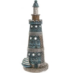 Add a nautical sense to any space of your home interior with this beautifully finished Marine Art Light House ornament