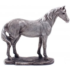 Introduce a vintage silver touch to your home space with this beautifully detailed ornamental figure