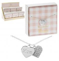 'Mum' Mad Dots Silver Bracelet