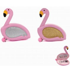 Fabulous Flamingo Manicure Cases, 2ass  Add a funky feel to your manicures with this glitzy assortment of flamingo theme