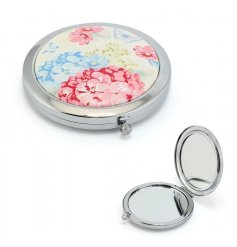 A Floral Hydrangea Compact Mirror