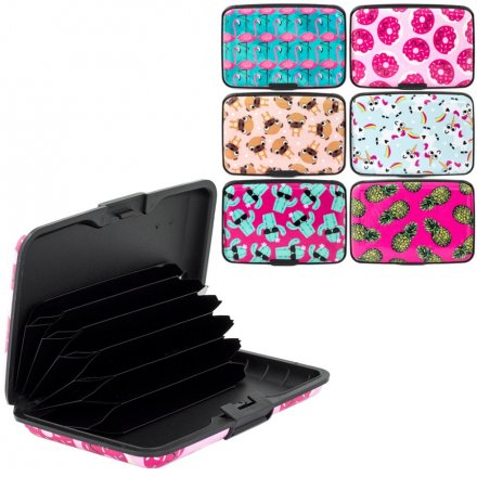 Colourful Card Cases, 6 Assorted