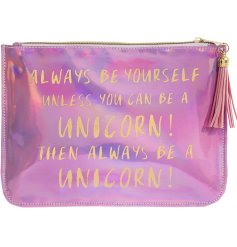 Bring a magical shimmering touch to any handbag or outfit with this beautifully finished zip up pouch