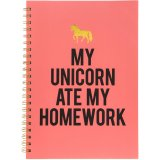 Add a magical unicorn vibe to your stationary sets and note takings with this chic pink note book