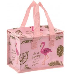 A Be A Flamingo In A Flock Of Pigeons Lunch Bag