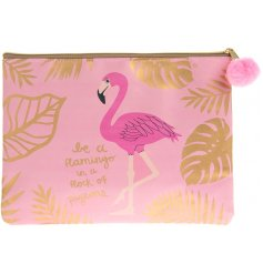 A Be A Flamingo motto Purse