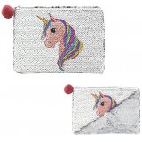 Add a sparkling sequin touch to your handbag with this glam unicorn inspired coin purse