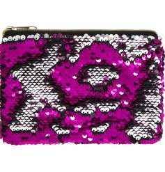 Keep it chic with the purple sequins, or brush the other way to vamp it up with the sleek silver tone instead