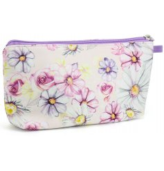 Keep hold of your important makeup items in this beautifully decorated makeup bag